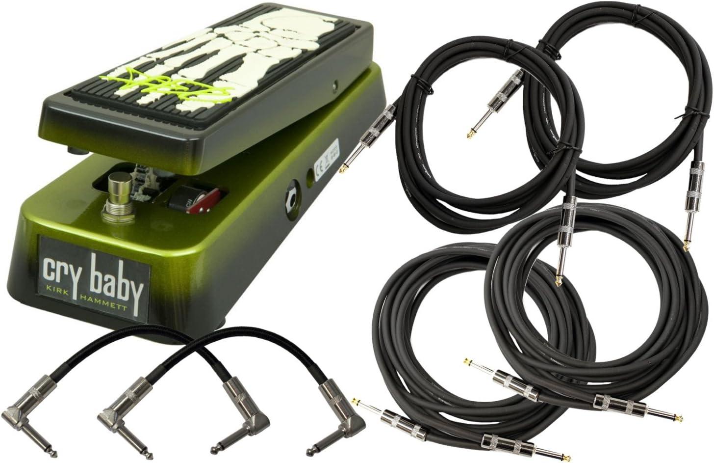 Dunlop KH95 Kirk Hammett Wah Pedal w// 6 Cables