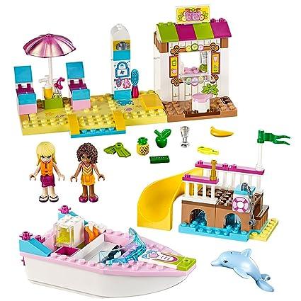 Amazoncom Lego Juniors Andrea Stephanies Beach Holiday 10747