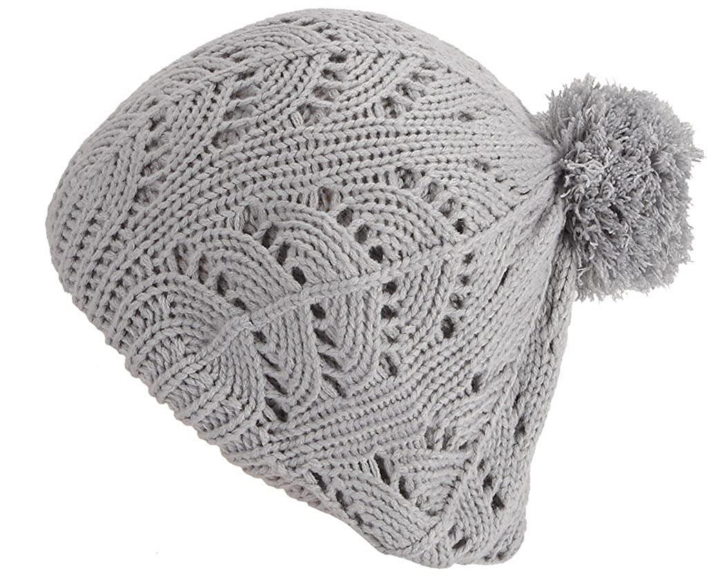 Gisele tricoté de chapeau en imitation de béret français - Bonnet de laine oversize hiver dames Bonnet chapeaux chapeau bonnet chapeau tricotéx d'hiver 246 Automne / Hiver