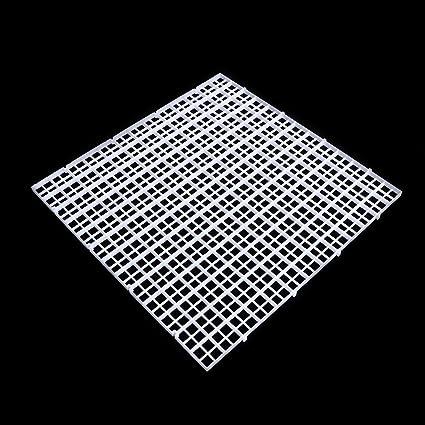 Dabixx Juego de separador de acuario para acuario, con ventosa, plástico, Blanco, 1 Set(30x30 cm)