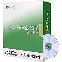 Microsoft Visio 2016 Standard, Tralion-DVD. 32/64 bit, inkl. Audit-Dokumente