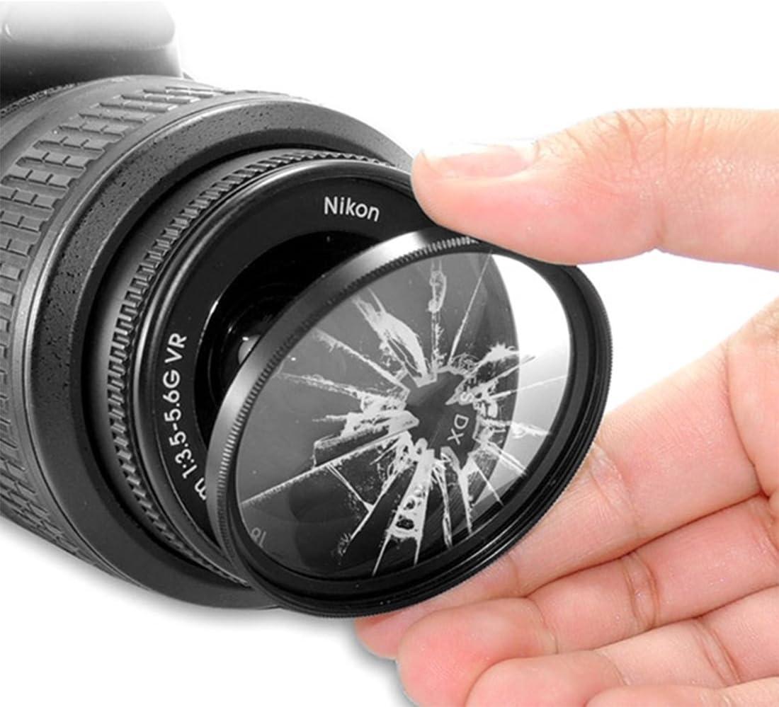 MEETBM ZIMO,52mm Digital Camera Aluminum Alloy Frame Lens UV Filter Color : Black Black