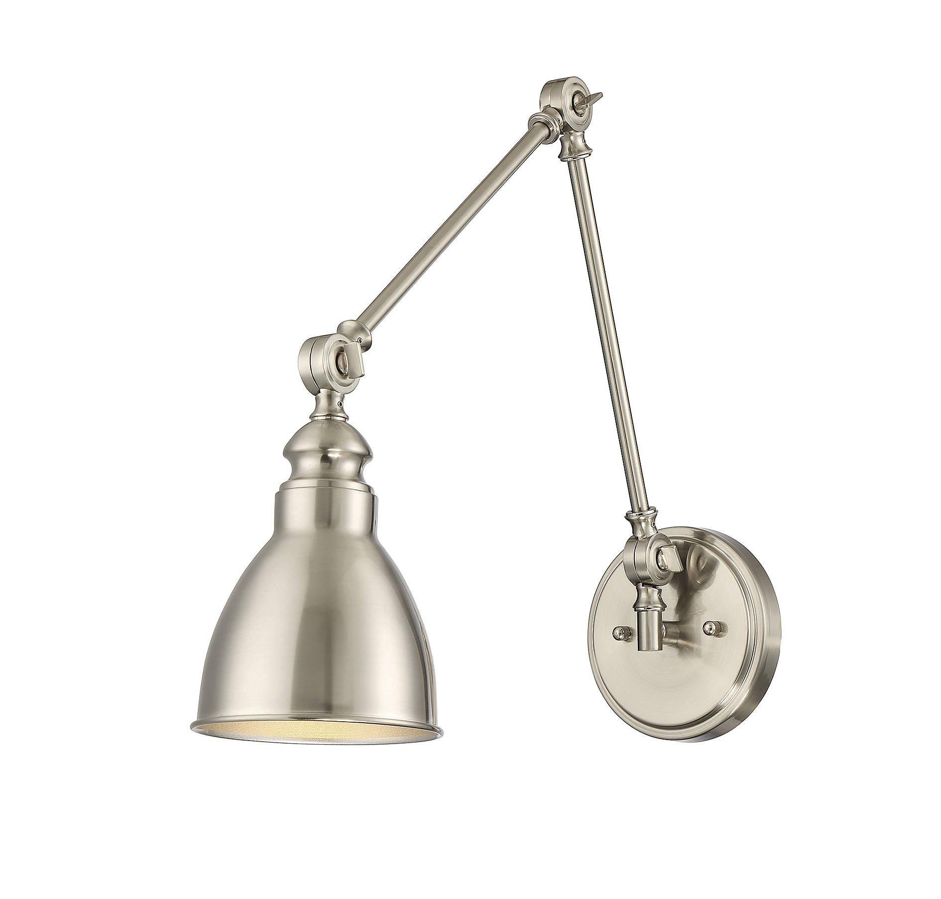 Savoy House Dakota 1-Light Adjustable Wall Lamp in Satin Nickel 9-960-1-SN