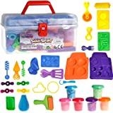Kinetic Sand with Molds and Tools Kit Educational Toy DIY kids Back to School Gift 30pcs | Multiple Color (6) Molding Sand Included