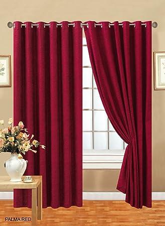 Schwerer Vorhang amazon de vorhang paar bereit made schwerer uni chenille öse