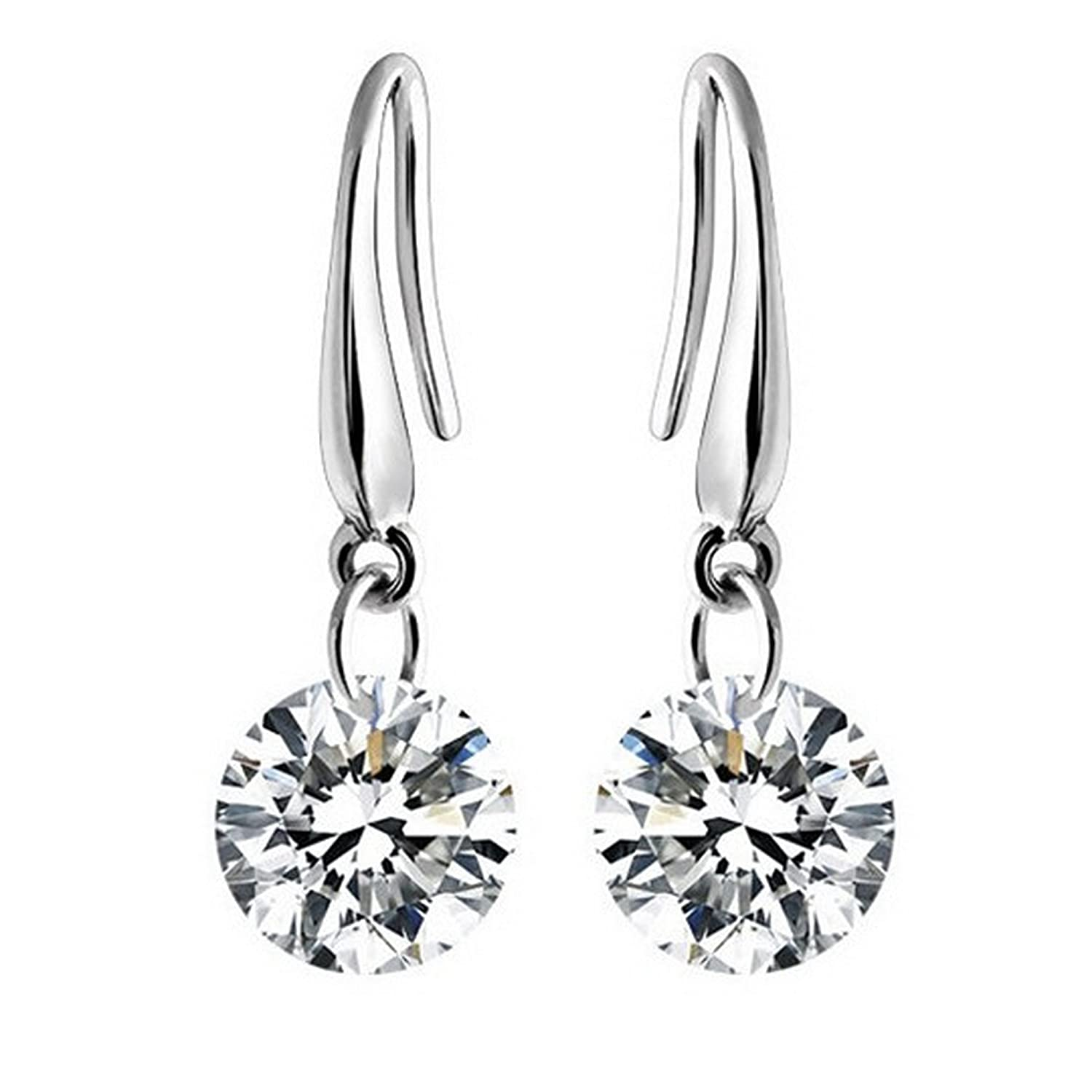 Amazon Naked Swarovski Element Drill 8MM Earrings Jewelry