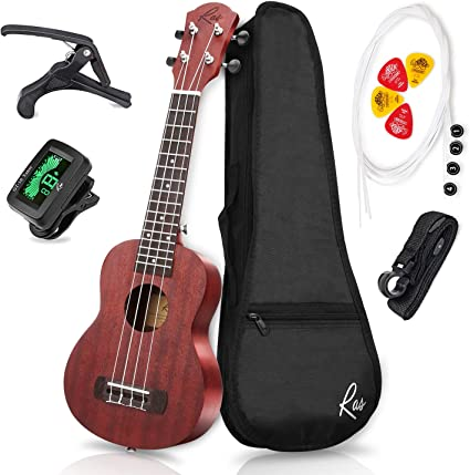 RAS Ukelele Soprano 21 pulgadas Caoba Cuatro Cuerdas Guitarra para ...