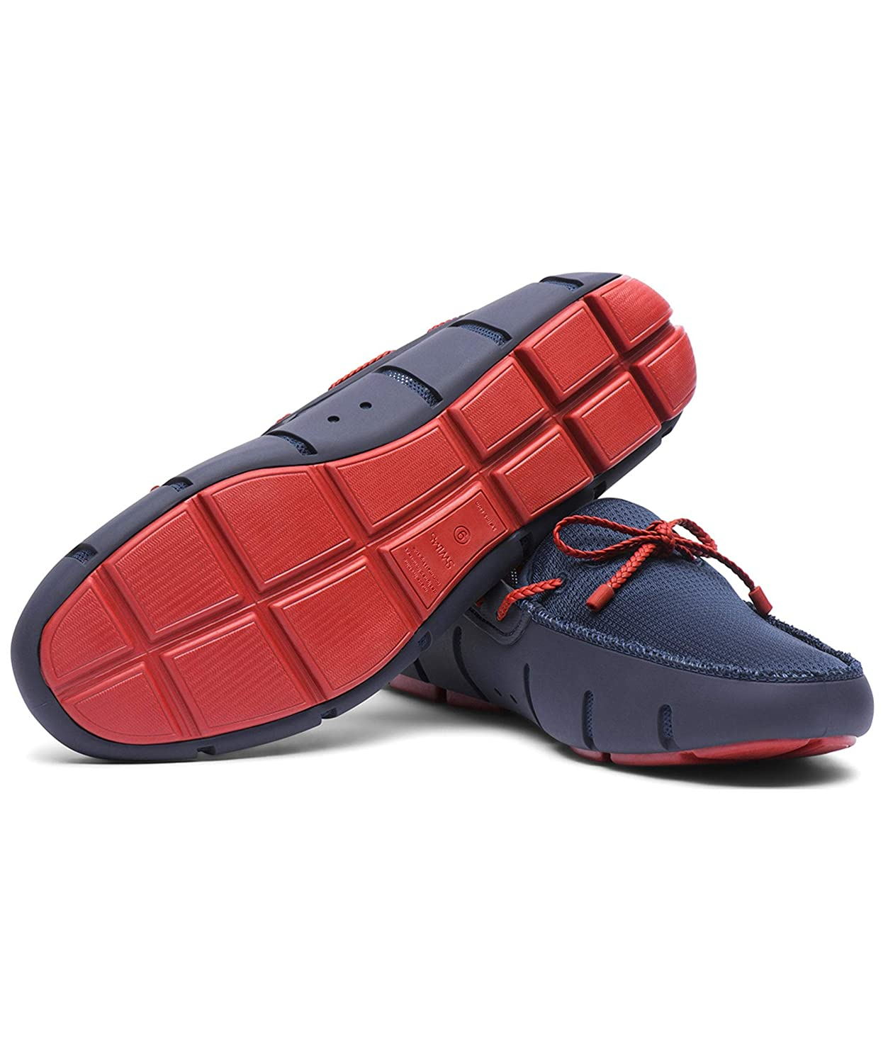 SWIMS Mens Braided Lace Loafers Navy