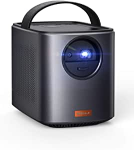 Nebula, by Anker, Mars II 300 ANSI lm Portable Home Theater Projector with 720p 30-150'' DLP Picture, 10W Speakers, Android 7.1, 1-Second Autofocus, 4-Hour Playtime, Broad Connectivity, and Miracast