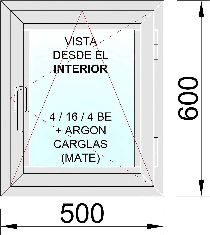 Ventana Aluminio RPT 45 Practicable Oscilobatiente Derecha 500×600 1hoja cristal carglass (climalit mate): Amazon.es: Bricolaje y herramientas