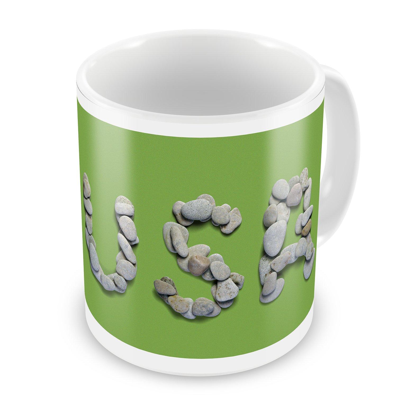 Coffee Mug USA Spa Stones Rocks - NEONBLOND