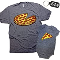 Funny Pizza Pie & Slice Dad & Baby Matching Clothing Set Shirt & Onesie Shower Gift