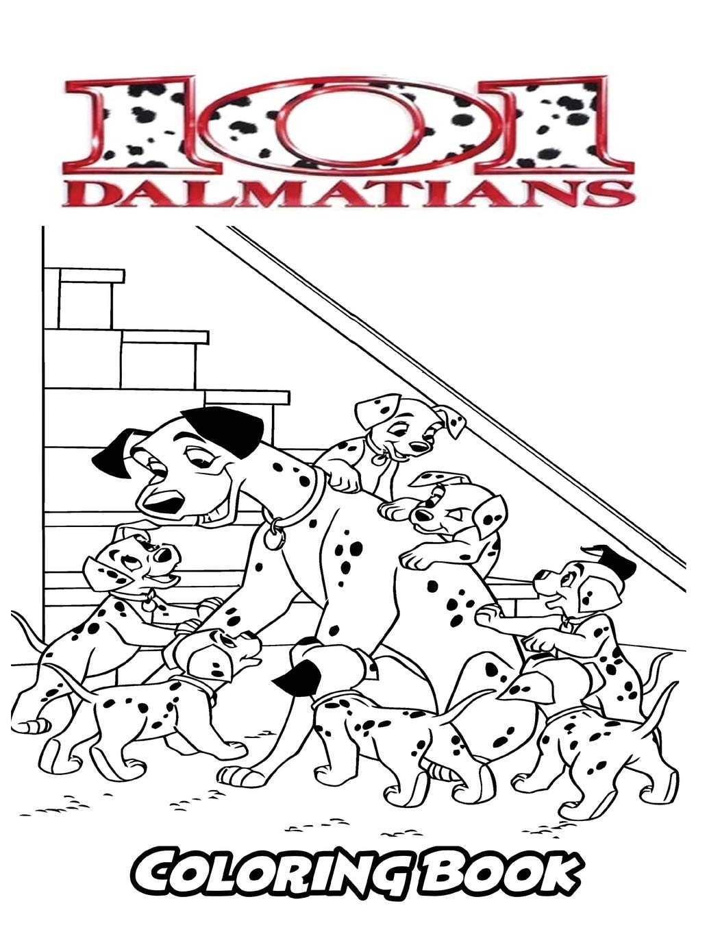 Amazon Com 101 Dalmatians Coloring Book Coloring Book For