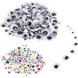 VABNEER 400Pcs Auto-adhésif yeux mobiles Wiggle Yeux Mobiles Autocollant Plastique Yeux Pour Enfants École Classroom Arts Bricolage Artisanat Créatif Artisanat Décorations