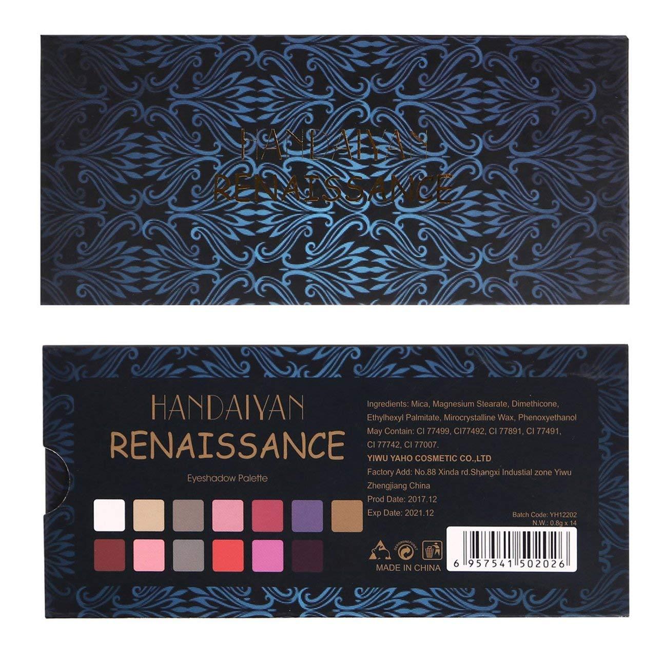Amazon Com Liobaba 14 Colors Eyeshadow Makeup Palette