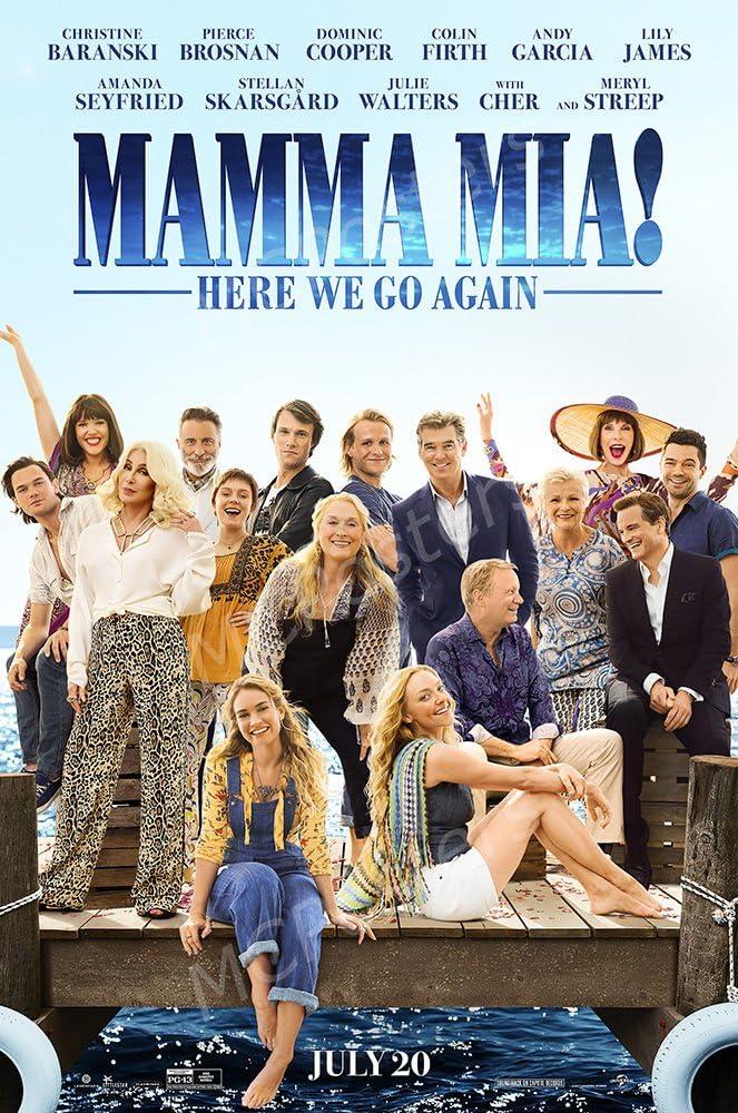 "PremiumPrints - Mamma Mia! Here We Go Again Glossy Finish Made in USA Movie Poster - MCP245 (24"" x 36"" (61cm x 91.5cm))"