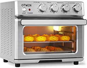 OTWEN Air Fryer Toaster Oven, Convection Oven Countertop, Roaster Oven 24 Quart, 7-In-1 Stainless Steel Airfryer 360 Oven.1700w Air Fryer With LED Light,Convection Roaster with Rotisserie & Dehydrator