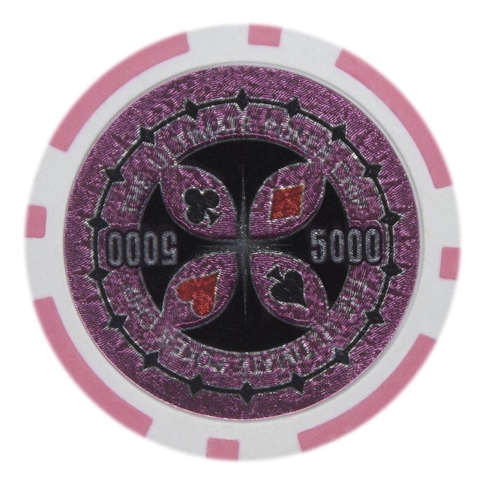 Brybelly究極のポーカーチップレーザーInlay – Heavyweight 14-gramクレイComposite – パックof 50 Heavyweight $5000 Pink $5000 B012GZSEUE, gmall:b055788b --- itxassou.fr
