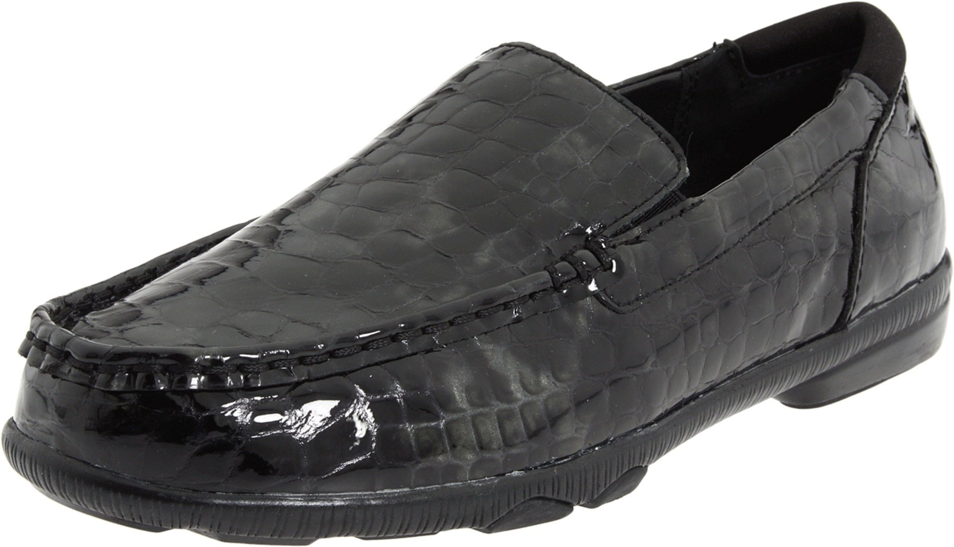 Aetrex Women's Essence Loafers - Kimberly,Black Croc,6 M US