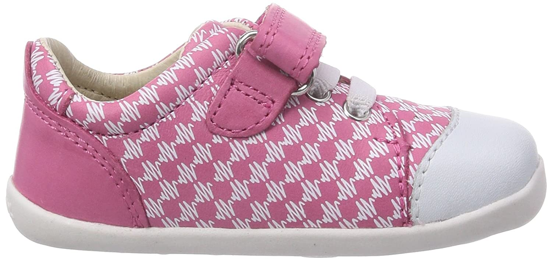 Bobux 460775, Low-Top Sneaker bambina, Rosa (Pink (fuchsia)), 18