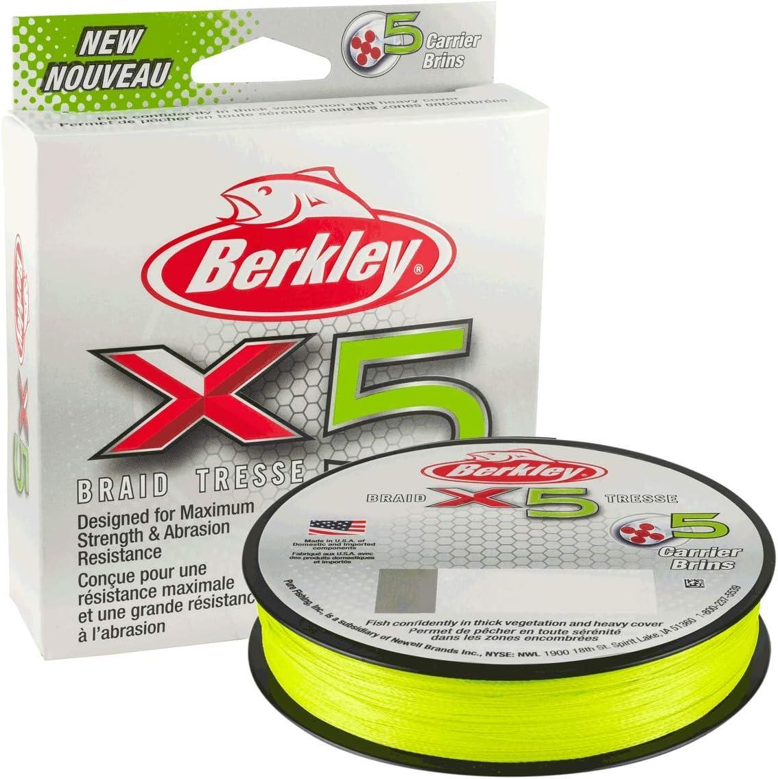 Berkley X5 Braid 300m 0,12mm 12,1kg flame green