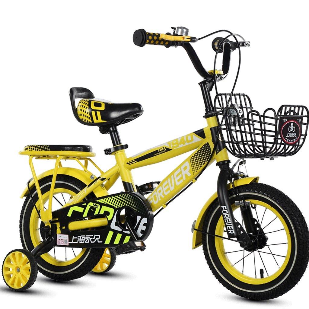 子供3-12歳の自転車の少年少年のベビーカーの子供ペダルの自転車の子供屋外マウンテンバイク (色 : イエロー いえろ゜, サイズ さいず : 14 inches) B07DBVS7DM 14 inches イエロー いえろ゜ イエロー いえろ゜ 14 inches