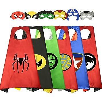 Easony Regalos Niñas 3-12 Años Superheroe Disfraz 3-12 Años ...