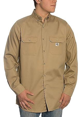 welding shirt flame retardant 100/% cotton fire resistant FR us new LARGE REGULAR
