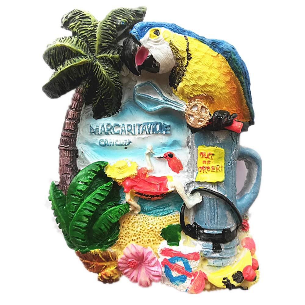 3D Cancun Mexico Souvenir Fridge Magnet,Home & Kitchen Decoration Magnetic Sticker polyresin Craft,Cancun Mexico Refrigerator Magnet Travel Souvenir Gift