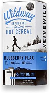 product image for Wildway Grain-free Instant Keto Hot Cereal: Blueberry Flax, 7oz (4 Pack)