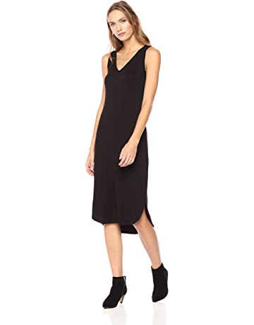 254ce3908f5fce Daily Ritual Women's Jersey Sleeveless V-Neck Dress