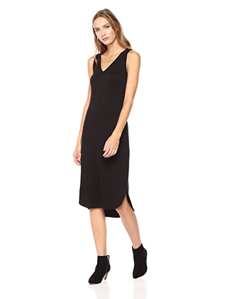0c4619c4ae5 Amazon.com  Daily Ritual Women s Jersey Sleeveless V-Neck Dress ...