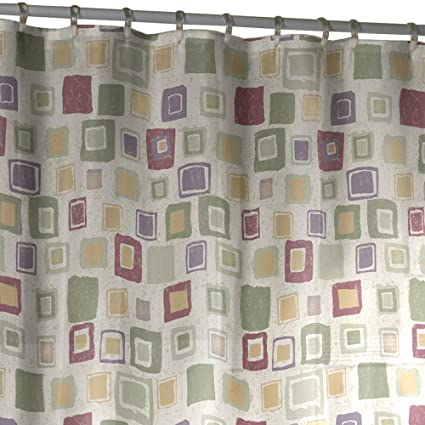Amazon MAYTEX Geo Sparkle Fabric Shower Curtain Multi Home