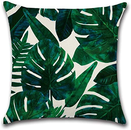 45cm Roblue federa fogli piante tropicali in poliestere per divano casa auto lavabile morbido 45/* 45/cm 1 45