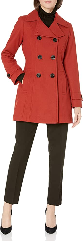 Anne Klein Women's Classic Double-Breasted Coat