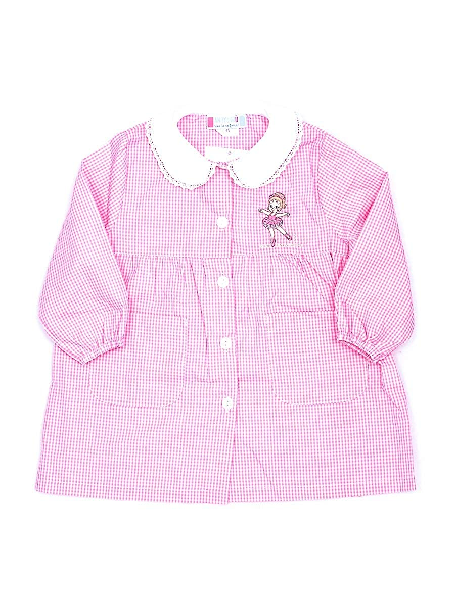 Andy/&Gi/ò Grembiule asilo bambina 90015 grembiule quadri rosa