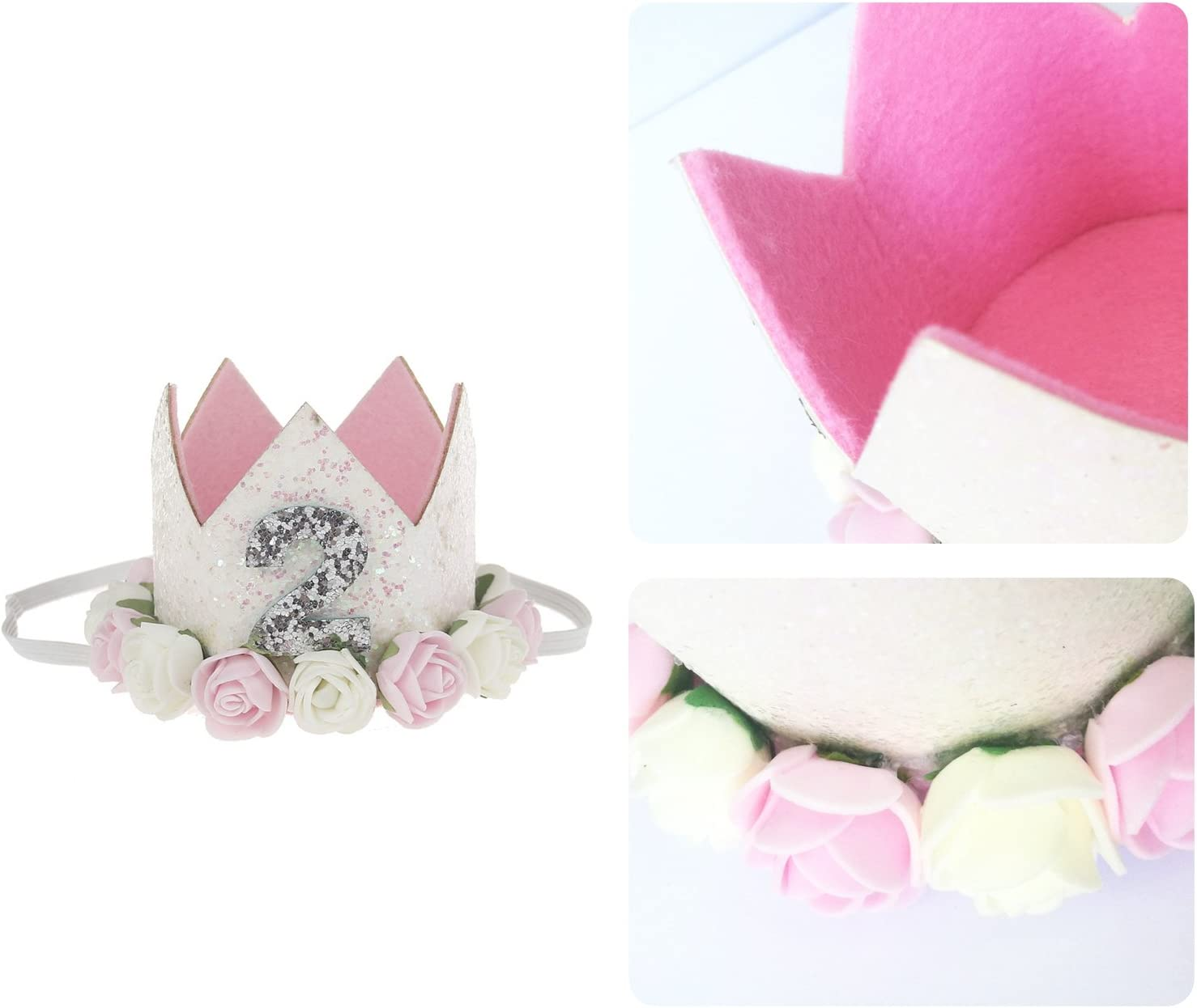 COUXILY Babys Birthday Hat Headband Princess Crown Party Tiara Hair Accessory 1-CR02
