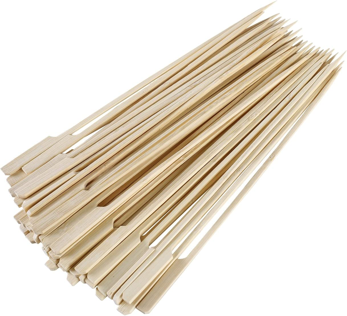 "Gmark Bamboo Paddle Skewers 10"" 100pc/Bag, Kabob Skewers, BBQ Skewers for Outdoor Grilling GM1074"