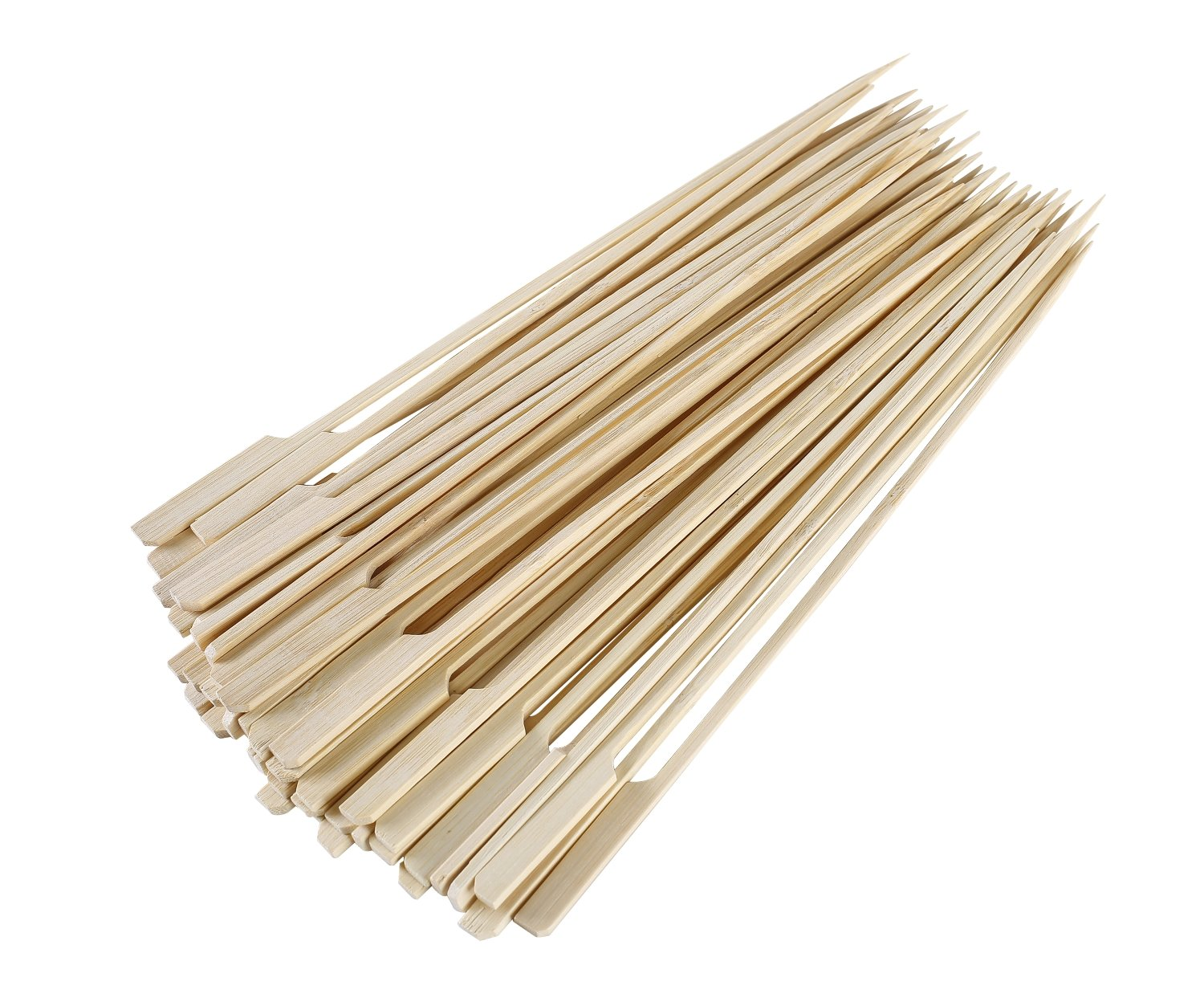 Gmark Bamboo Paddle Skewers 12'' 100pc/Bag, Kabob Skewers, BBQ Skewers for Outdoor Grilling GM1075