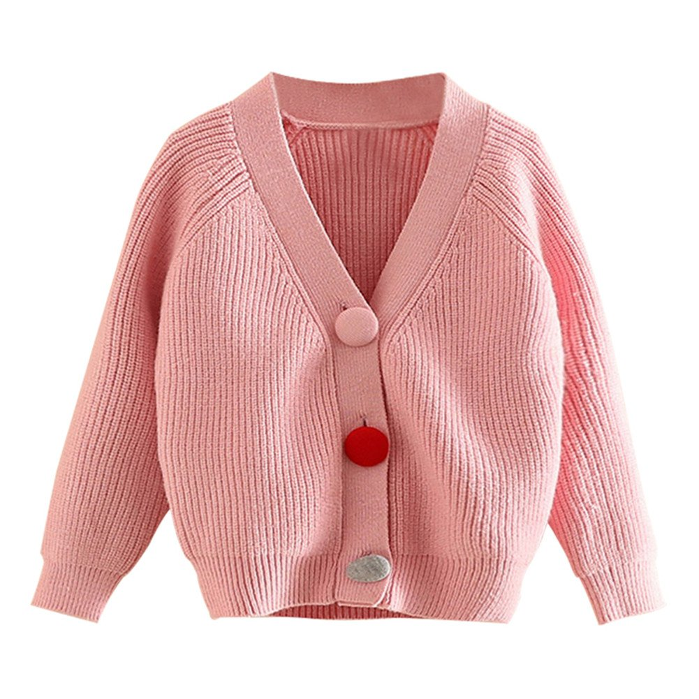 Mud Kingdom Toddler Girls' Uniform Button Cardigan Sweaters Pink SS0490