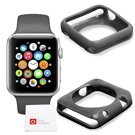 Etui coque de protection NOIR en silicone pour Apple Watch (iWatch) 1ère et 2ème