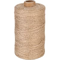 Sekey 200M natuurlijk jute touw decoratiekoord voor hang-etiketten, wenskaarten, cadeaus, doe-het-zelf knutselen, tuin…