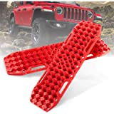 BUNKER INDUST Off-Road Traction Boards with Jack Lift Base, 1 Pair Recovery Tracks Traction Mat for 4X4 Jeep Mud, Sand…
