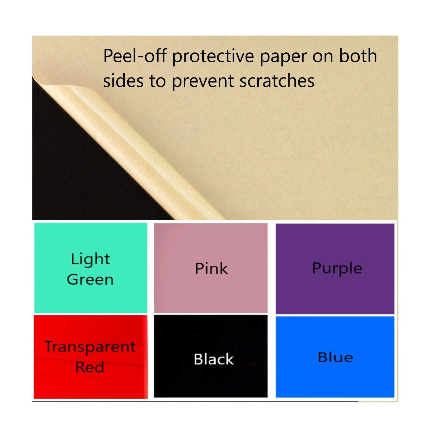 Easy to Cut Plastic Plexi Glass with Protective Paper for Signs Shelves Blue, 16 x 16 Crafts 3 Pack Color Cast Acrylic Plexiglass Sheets 1//8 Thick 3mm DIY Display Projects