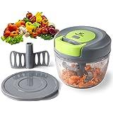 Magiclux tech picadora manual 3 cuchillas,mini picadora de carne cortador cebolla picador de verduras