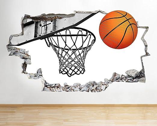 tekkdesigns G082 Baloncesto Deporte Corte Smashed Adhesivo Pared ...