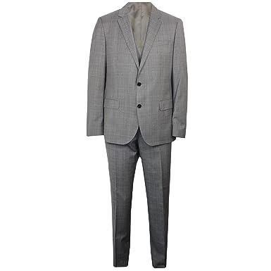 5291379b3b36aa BOSS Hugo C-Genius Mens Grey Three Piece Suit 48: Amazon.co.uk: Clothing
