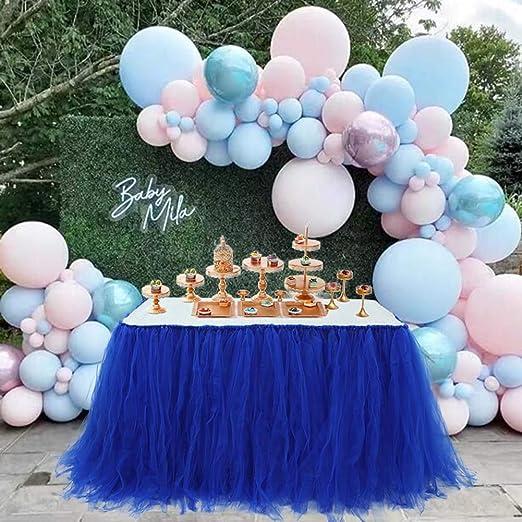 Handmade Tutu Tulle Table Skirt for Princess Party Candy Table Wedding Head Bridal Baby Shower Dessert Home Decor black
