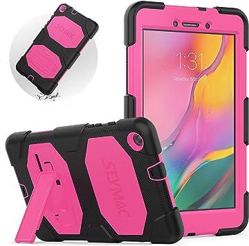 Funda SEYMAC para Samsung Tab A 8.0 2019, SM-T290 Kid Case, Galaxy Tab A 8.0, Resistente, a Prueba de Golpes, con función Atril para Galaxy Tab A 8.0 2019 (Rosa/Negro): Amazon.es: Informática