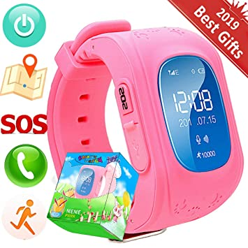 Hangang GPS Tracker for kids Smartwatch Kids Anti-erra SOS Calling Search for kids waterproof Real-time tracking, Smart watch(Not include sim card) ...